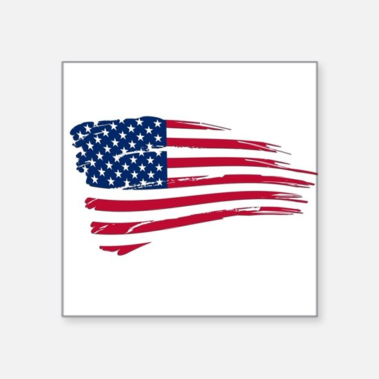 Tattered US Flag Sticker