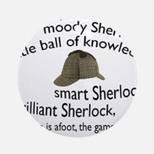 Soft Sherlock Song Ornament (Round)