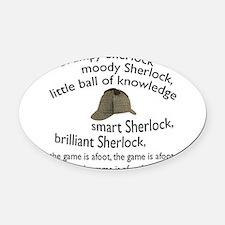 Soft Sherlock Song Oval Car Magnet