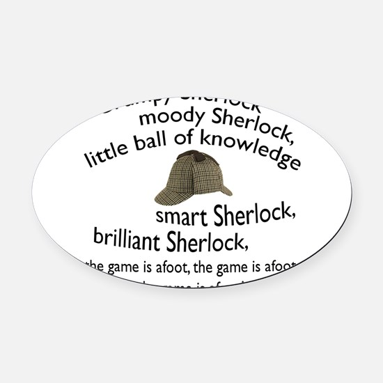 Soft Sherlock Song Oval Car Magnet