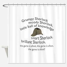Soft Sherlock Song Shower Curtain
