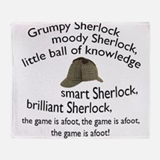 Soft Sherlock Song Throw Blanket