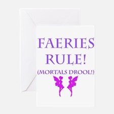 Faeries Rule Greeting Cards