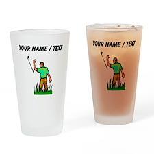 Custom Angry Golfer Drinking Glass