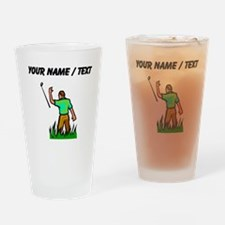 Custom Angry Golfer Drinking Glass