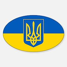 Ukrainian Flag Sticker (Oval)