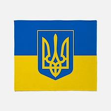 Ukrainian Flag Throw Blanket