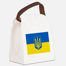 Ukrainian Flag Canvas Lunch Bag
