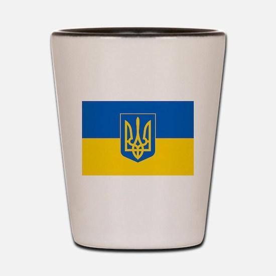 Ukrainian Flag Shot Glass