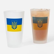 Ukrainian Flag Drinking Glass
