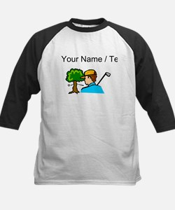 Custom Golf Ball Hitting Tree Baseball Jersey