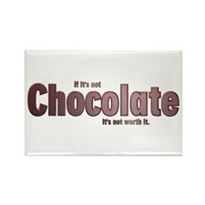 Chocolate is Worth it Rectangle Magnet (10 pack)