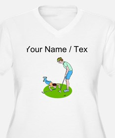 Custom Golfing With Mom Plus Size T-Shirt