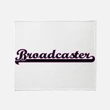 Broadcaster Classic Job Design Throw Blanket