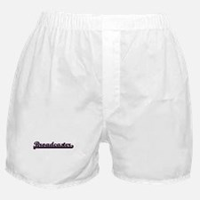 Broadcaster Classic Job Design Boxer Shorts