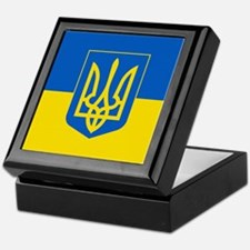 Ukrainian Flag Keepsake Box