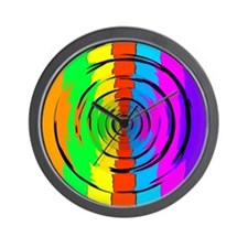 Rainbow Test Pattern Wall Clock
