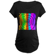 Rainbow Test Pattern Maternity T-Shirt