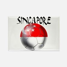 Singapore Football Rectangle Magnet