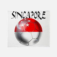 Singapore Football Throw Blanket