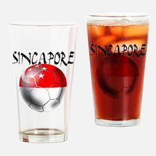 Singapore Football Drinking Glass