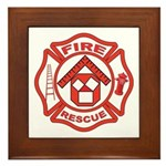 Masonic Firefighter, Past Master Framed Tile