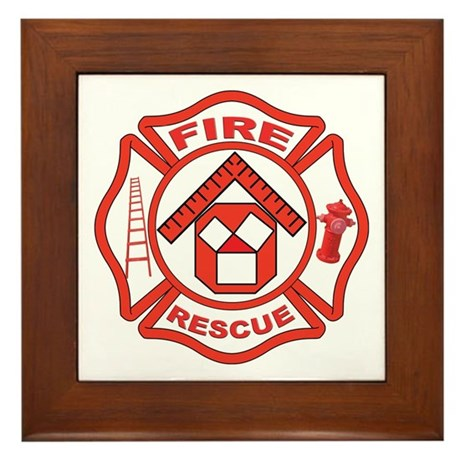 Masonic Firefighter, Past Master Framed Tile