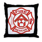 Masonic Firefighter, Past Master Throw Pillow