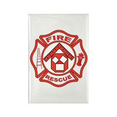 Masonic Firefighter, Past Master Rectangle Magnet