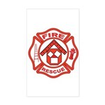Masonic Firefighter, Past Master Sticker (Rectang