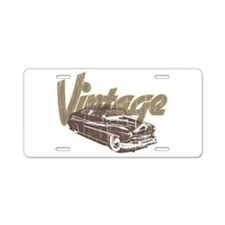 Vintage Car Aluminum License Plate