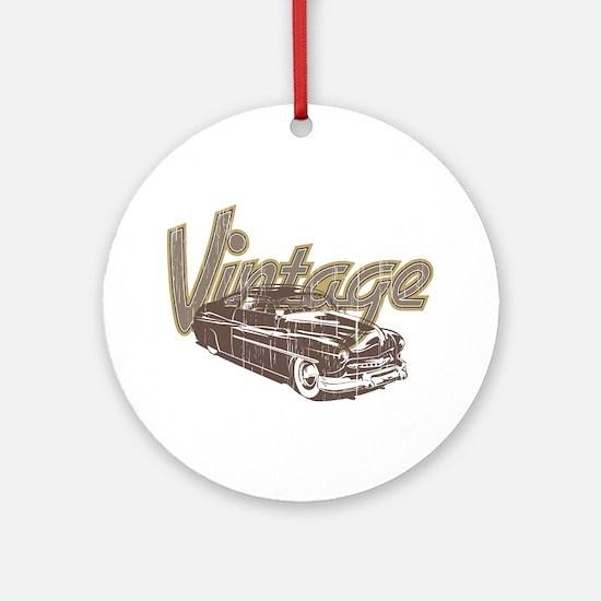 Vintage Car Ornament (Round)