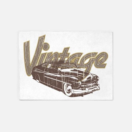 Vintage Car 5'x7'Area Rug