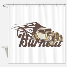Hot Rod Burn Out Shower Curtain