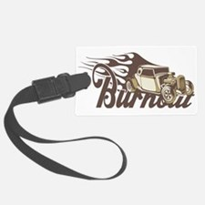 Hot Rod Burn Out Luggage Tag