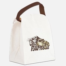 Hot Rod Burn Out Canvas Lunch Bag