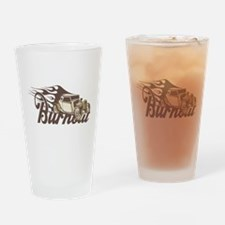 Hot Rod Burn Out Drinking Glass