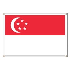Flag of Singapore Banner