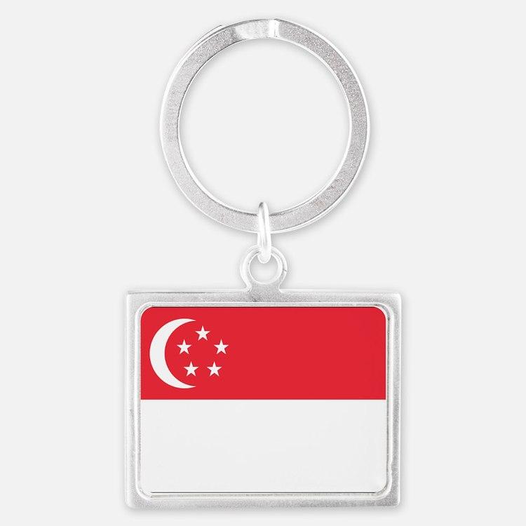 Flag of Singapore Landscape Keychain