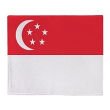 Flag of Singapore Throw Blanket
