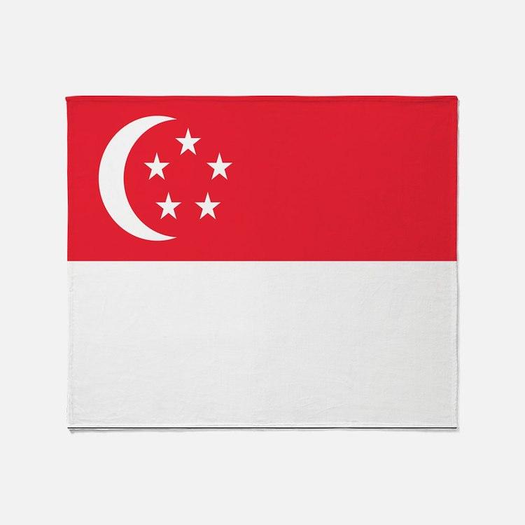 Flag of Singapore Throw Blanket