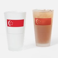 Flag of Singapore Drinking Glass