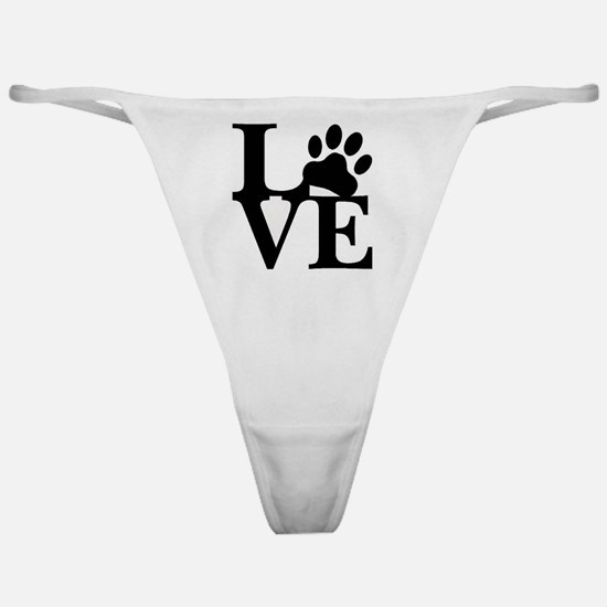 Cute Adopt shelter dog Classic Thong