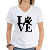 Adopt dont shop Womens V-Neck T-shirts