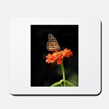 Simple Butterfly on a Flower Mousepad