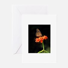 Simple Butterfly on a Flower Greeting Cards