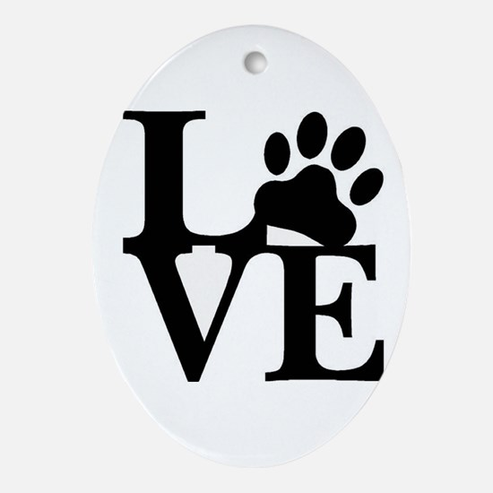 Pet Love and Pride (basic) Ornament (Oval)