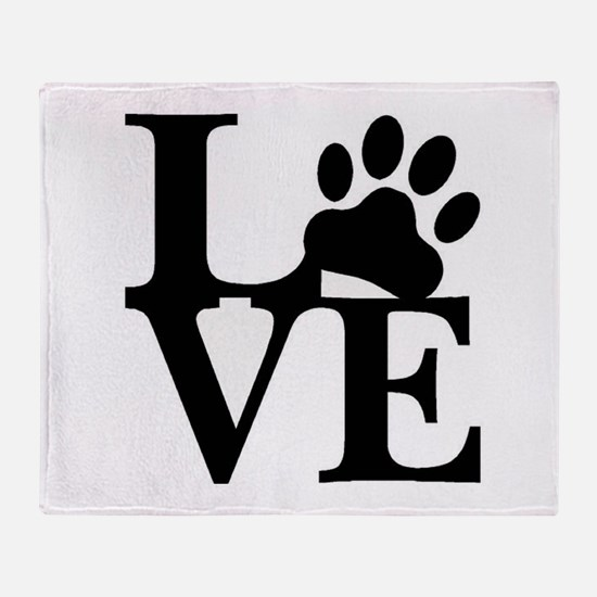 Pet Love and Pride (basic) Throw Blanket