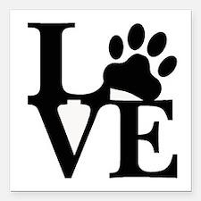 """Pet Love and Pride (basi Square Car Magnet 3"""" x 3"""""""