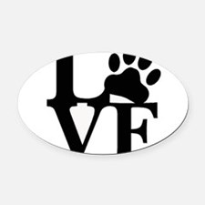 Pet Love and Pride (basic) Oval Car Magnet